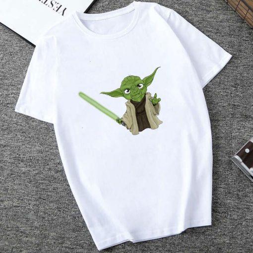 Showtly 2019 STAR WARS Slurp Men Women New Cute Tiny Yoda Printed T shirt Lady Fantastic 2