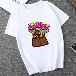 Showtly 2019 STAR WARS Slurp Men Women New Cute Tiny Yoda Printed T shirt Lady Fantastic
