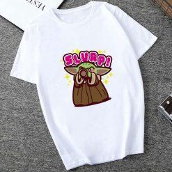 Showtly 2019 STAR WARS Slurp Men Women New Cute Tiny Yoda Printed T shirt Lady Fantastic