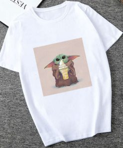 Showtly 2019 STAR WARS Slurp Men Women New Cute Tiny Yoda Printed T shirt Lady Fantastic 3