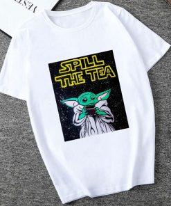 Showtly 2019 STAR WARS Slurp Men Women New Cute Tiny Yoda Printed T shirt Lady Fantastic 4