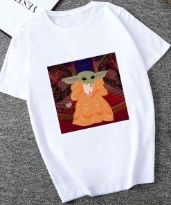 Showtly 2019 STAR WARS Slurp Men Women New Cute Tiny Yoda Printed T shirt Lady Fantastic 5