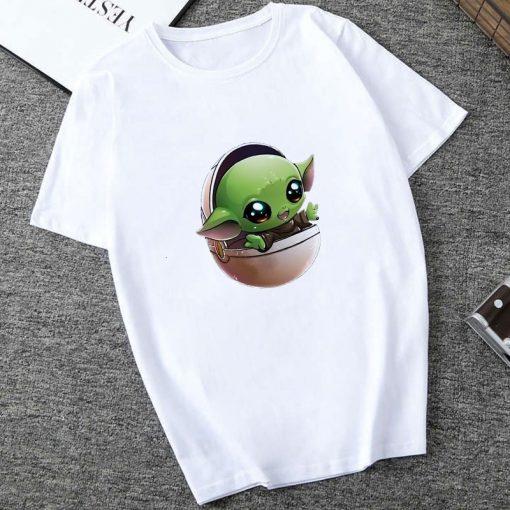 Showtly 2019 The Mandalorian Baby Yoda Sweatshirt Men Women Star Wars TV Series T shirt 90S 2