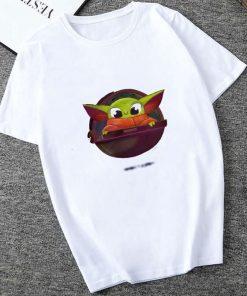 Showtly 2019 The Mandalorian Baby Yoda Sweatshirt Men Women Star Wars TV Series T shirt 90S