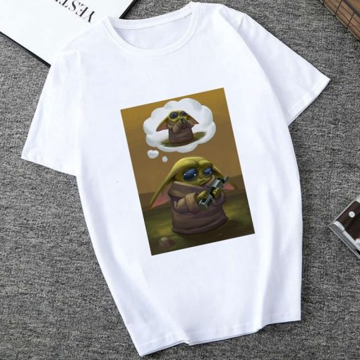 Showtly 2019 The Mandalorian Baby Yoda Sweatshirt Men Women Star Wars TV Series T shirt 90S 4
