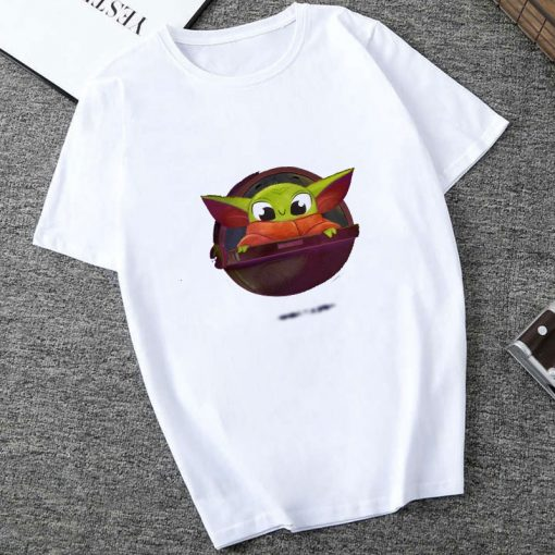 Showtly The Mandalorian Baby Yoda Sweatshirt Men Women Star Wars TV Series T shirt 90S Science 1