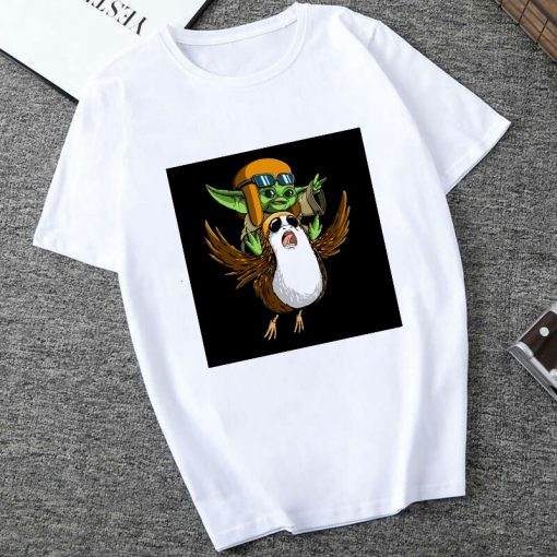 Showtly The Mandalorian Baby Yoda Sweatshirt Men Women Star Wars TV Series T shirt 90S Science 2