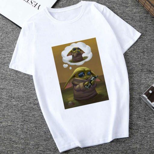 Showtly The Mandalorian Baby Yoda Sweatshirt Men Women Star Wars TV Series T shirt 90S Science 4