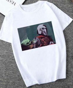 Showtly The Mandalorian Baby Yoda Sweatshirt Men Women Star Wars TV Series T shirt 90S Science 5