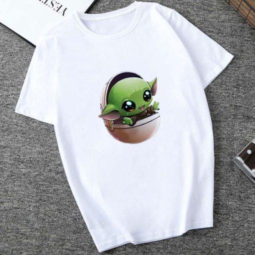 Showtly The Mandalorian Baby Yoda Sweatshirt Men Women Star Wars TV Series T shirt 90S Science