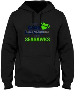 South Beach Girls This Girl Loves Her Seahawks Footballer Style Short Sleeve long Sleeve Print Hoodies