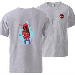 Spiderman Deadpool Tshirts Men Summer Short Sleeve Sportswear Cotton Top 2020 Man Brand Loose Casual Tshirt 1