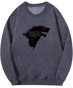 Spring Autumn Fashion Sweatshirt House Stark Winter Is Coming Wolf Casual Fleece Hoodie Pullover Game Of 1