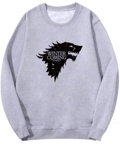 Spring Autumn Fashion Sweatshirt House Stark Winter Is Coming Wolf Casual Fleece Hoodie Pullover Game Of 2