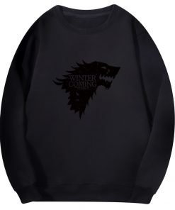 Spring Autumn Fashion Sweatshirt House Stark Winter Is Coming Wolf Casual Fleece Hoodie Pullover Game Of