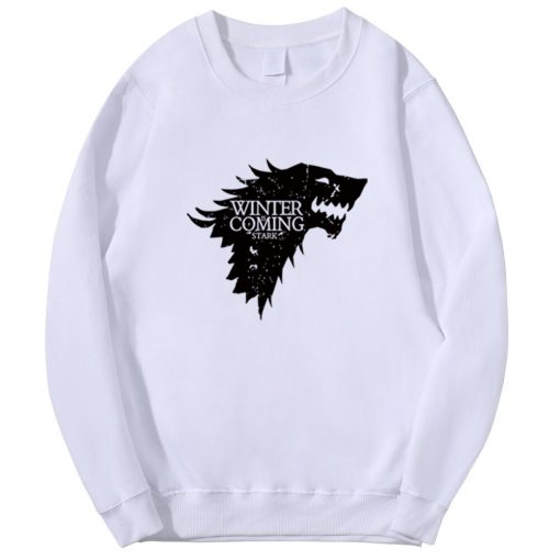 Spring Autumn Fashion Sweatshirt House Stark Winter Is Coming Wolf Casual Fleece Hoodie Pullover Game Of 3
