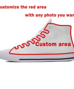 Star Wars Baby Yoda Mandalorian Cute Funny Vogue Casual Canvas Shoes High Top Lightweight Breathable 3D 5