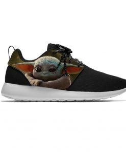 Star Wars Baby Yoda Mandalorian Funny Cute Fashion Sport Running Shoes Lightweight Breathable 3D Printed Men 2