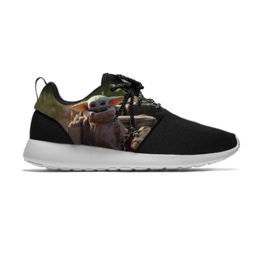 Star Wars Baby Yoda Mandalorian Funny Cute Fashion Sport Running Shoes Lightweight Breathable 3D Printed Men 3