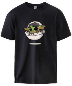 Star Wars Baby Yoda T shirts Mens The Mandalorian Short Sleeve Cotton Tops Streetwear Tees 2020