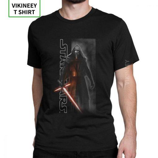 Star Wars Episode T shirt Men The Force Awakens Kylo Ren Shadows T Shirt Man Normal