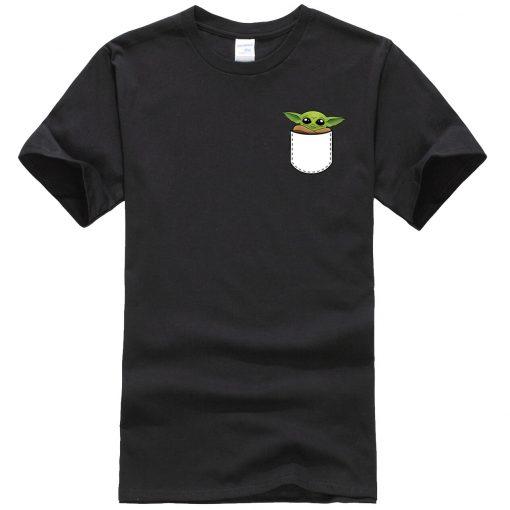 Star Wars Male T Shirt Ctue Baby Yoda T Shirt Fashion Brand Men T Shirts Hip 1