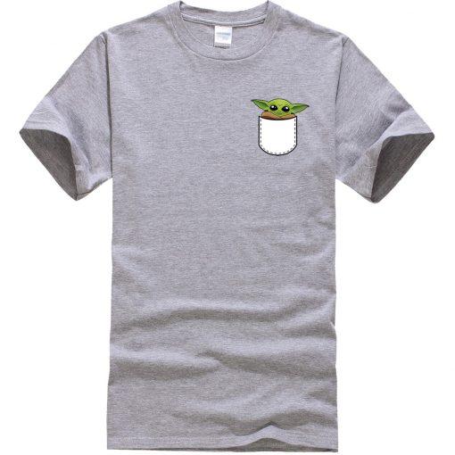 Star Wars Male T Shirt Ctue Baby Yoda T Shirt Fashion Brand Men T Shirts Hip 2