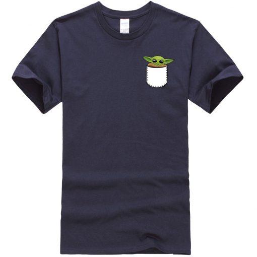 Star Wars Male T Shirt Ctue Baby Yoda T Shirt Fashion Brand Men T Shirts Hip 3