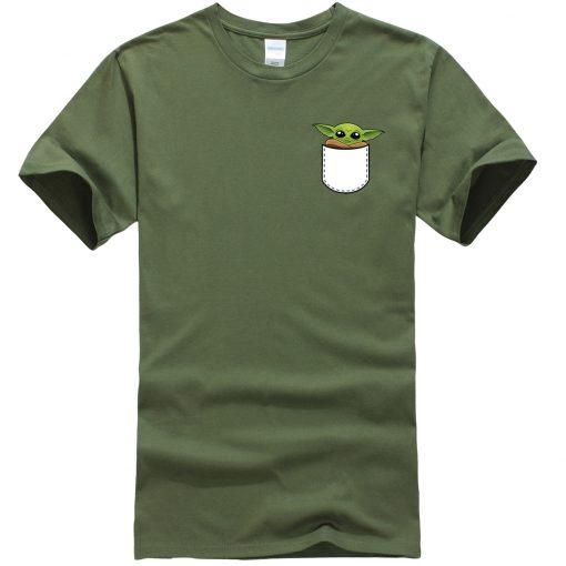 Star Wars Male T Shirt Ctue Baby Yoda T Shirt Fashion Brand Men T Shirts Hip