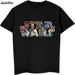 Star Wars Poster Stamp T Shirt Princess Leia Darth Vader Yoda Chewbacca Funny Tshirt Star Wars