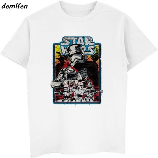 Star Wars Poster Stamp T Shirt Princess Leia Darth Vader Yoda Chewbacca Funny Tshirt Star Wars 3
