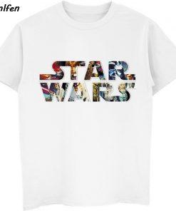 Star Wars Poster Stamp T Shirt Princess Leia Darth Vader Yoda Chewbacca Funny Tshirt Star Wars 4