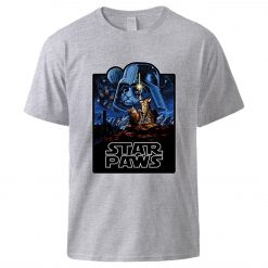 Star Wars Star Paws Tshirts Top Man Summer Short Sleeve Cotton Sportswear 2020 New Arrival Cool