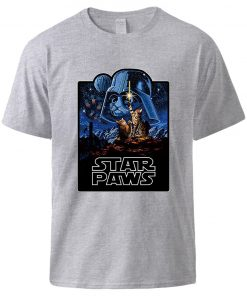 Star Wars Star Paws Tshirts Top Man Summer Short Sleeve Cotton Sportswear 2020 New Arrival Cool