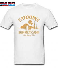 Star Wars T Shirt For Men Summer T shirt Two Suns of Fun Darth Vader Tshirt 2