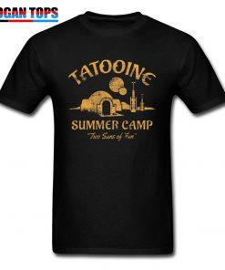 Star Wars T Shirt For Men Summer T shirt Two Suns of Fun Darth Vader Tshirt