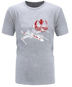 Star Wars TIE Fighter T65 X Wing Leisure Top T Shirt Aircraft Plane Starwars Printed Tshirt 1
