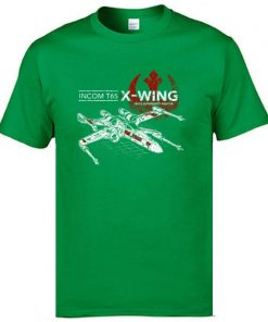 Star Wars TIE Fighter T65 X Wing Leisure Top T Shirt Aircraft Plane Starwars Printed Tshirt 2