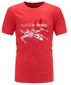 Star Wars TIE Fighter T65 X Wing Leisure Top T Shirt Aircraft Plane Starwars Printed Tshirt 4