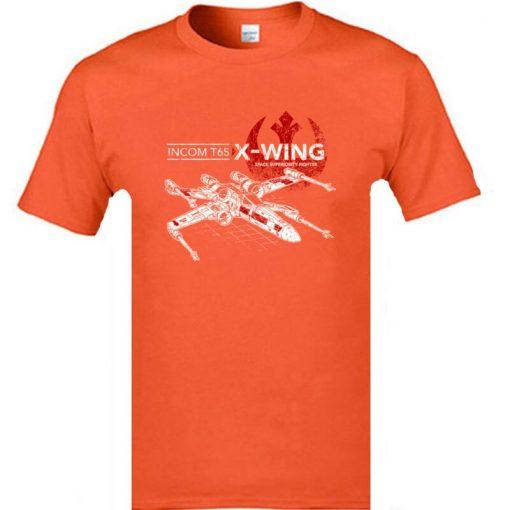 Star Wars TIE Fighter T65 X Wing Leisure Top T Shirt Aircraft Plane Starwars Printed Tshirt 5