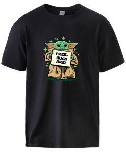 Star Wars The Mandalorian T shirts Mens Summer Short Sleeve Tops Tees Cute Baby Yoda Print