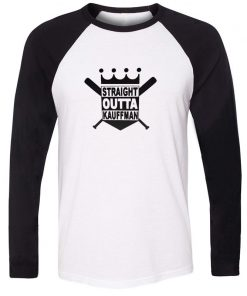 Straight Outta Kauffman KC Royals Bad Boys Kansas City Design T Shirt Men Cosplay Family Graphic