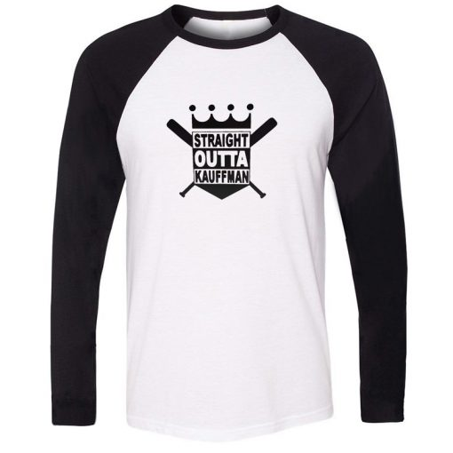 Straight Outta Kauffman KC Royals Bad Boys Kansas City Design T Shirt Men Cosplay Family Graphic