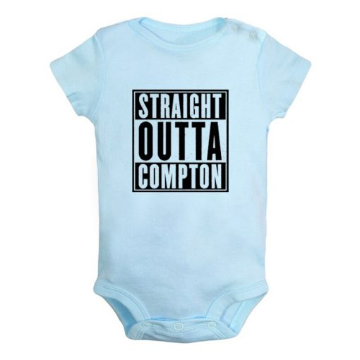 Straight Outta Kauffman KC Royals Bad Boys Kansas City Newborn Baby Girl Boys Clothes Short Sleeve 5
