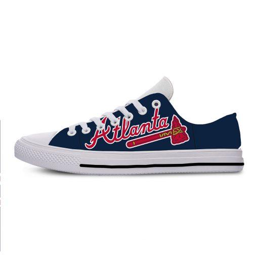 Summer 2019 Sport Shoes Men Sneaker Women Comfortable Unisex Atlanta Braves Shoes Casual Sneakers