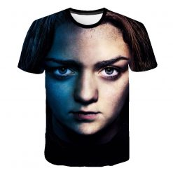 Summer Style Hip Hop Men T shirt Tops Arya Stark Men S Tee Tshirt Game Of 2