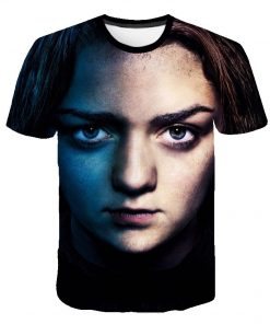 Summer Style Hip Hop Men T shirt Tops Arya Stark Men S Tee Tshirt Game Of 2