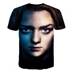 Summer Style Hip Hop Men T shirt Tops Arya Stark Men S Tee Tshirt Game Of 3