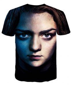 Summer Style Hip Hop Men T shirt Tops Arya Stark Men S Tee Tshirt Game Of 3