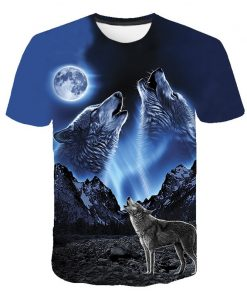 Summer T shirt Men Streetwear Round Neck Short Sleeve Tees Tops Funny Animal Male Clothes Casual
